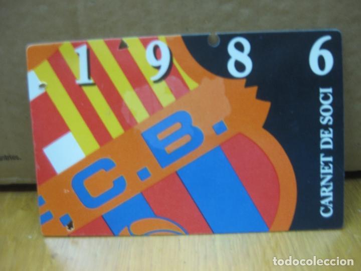 F.C. BARCELONA CARNET DE SOCI. TEMPORADA 1986 - ANUAL. (Coleccionismo Deportivo - Documentos de Deportes - Carnet de Socios)
