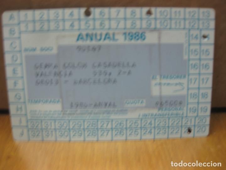 Coleccionismo deportivo: F.C. BARCELONA CARNET DE SOCI. TEMPORADA 1986 - ANUAL. - Foto 2 - 150974294