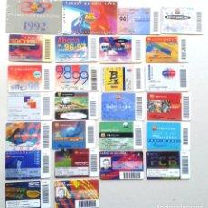 Coleccionismo deportivo: LOTE 26 CARNET SOCI SOCIO ABONAMENT FC BARCELONA DE 1992 A 2009 ¡¡ ESTAN TODOS LOS AÑOS !! ABONO. Lote 152758334