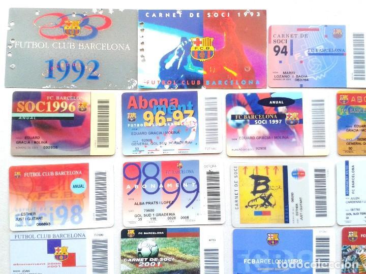 Coleccionismo deportivo: LOTE 26 CARNET SOCI SOCIO ABONAMENT FC BARCELONA DE 1992 A 2009 ¡¡ ESTAN TODOS LOS AÑOS !! ABONO - Foto 2 - 152758334