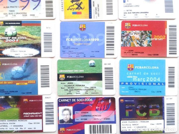 Coleccionismo deportivo: LOTE 26 CARNET SOCI SOCIO ABONAMENT FC BARCELONA DE 1992 A 2009 ¡¡ ESTAN TODOS LOS AÑOS !! ABONO - Foto 3 - 152758334