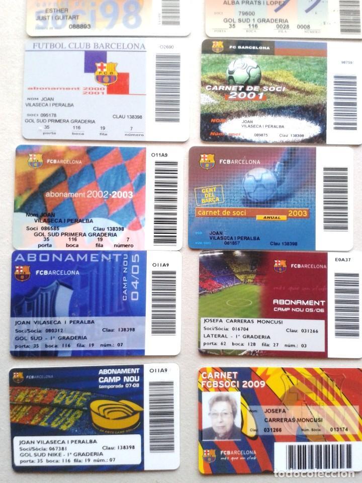 Coleccionismo deportivo: LOTE 26 CARNET SOCI SOCIO ABONAMENT FC BARCELONA DE 1992 A 2009 ¡¡ ESTAN TODOS LOS AÑOS !! ABONO - Foto 4 - 152758334