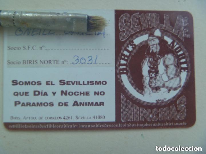 Coleccionismo deportivo: CARNET DE SOCIO DE ULTRAS DEL SEVILLA F.C. , BIRIS NORTE , 1975 - 1999 - Foto 2 - 155393774