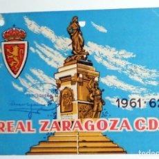 Coleccionismo deportivo: CARNET ABONADO SOCIO REAL ZARAGOZA CD - FUTBOL - TEMPORADA 1961-1962 61/62 - ANTIGUO - TRIBUNA GOL. Lote 156839634