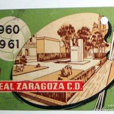 Coleccionismo deportivo: CARNET ABONADO SOCIO REAL ZARAGOZA CD - FUTBOL - TEMPORADA 1960-1961 60/61 - ANTIGUO - TRIBUNA GOL. Lote 156839782
