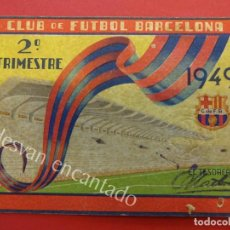 Coleccionismo deportivo: CF BARCELONA. CARNET DE SOCIO 2º TRIMESTRE 1949. Lote 157734034