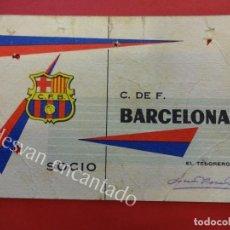 Coleccionismo deportivo: CF BARCELONA. CARNET DE SOCIO 1ER TRIMESTRE 1962. Lote 157734958