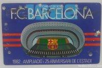 1982 FC Barcelona carnet de soci anual 1982 ampliació i 25 aniversari de l'estadi