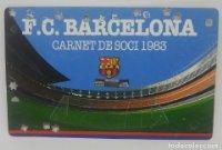 1983 FC Barcelona carnet de soci anual 1983. Carnet de socio Futbol Club Barcelona