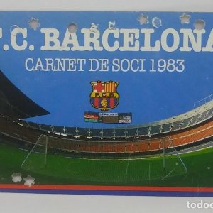 1983 FC Barcelona carnet de soci anual 1983. Carnet de socio Futbol Club Barcelona 11x7cm