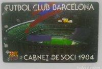 1984 FC Barcelona carnet de soci anual 1984. Carnet de socio Futbol Club Barcelona