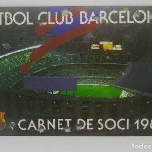 1984 FC Barcelona carnet de soci anual 1984. Carnet de socio Futbol Club Barcelona 11x7cm