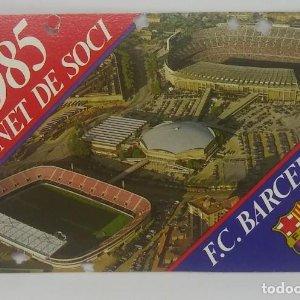 1985 FC Barcelona carnet de soci anual 1985. Carnet de socio Futbol Club Barcelona 11x7cm