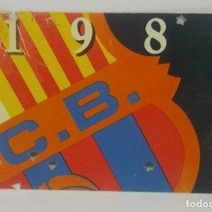 1986 FC Barcelona carnet de soci anual 1986 Carnet de socio Futbol Club Barcelona 11x7cm