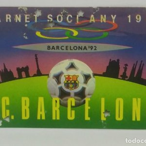 1987 FC Barcelona carnet de soci anual 1987 Carnet de socio Futbol Club Barcelona 11x7cm