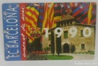 1990 FC Barcelona carnet de soci anual 1990 Carnet de socio Futbol Club Barcelona