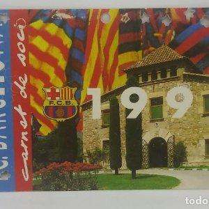 1990 FC Barcelona carnet de soci anual 1990 Carnet de socio Futbol Club Barcelona 11x7cm