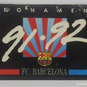 1992 FC Barcelona carnet de soci anual 1992 Carnet de socio Futbol Club Barcelona 11x7cm