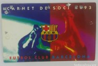 1993 FC Barcelona carnet de soci anual 1993 Carnet de socio Futbol Club Barcelona