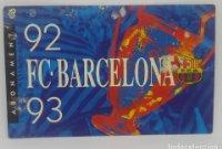 92/93 FC Barcelona. Abonament temporada Gold nord tercera graderia Futbol Club Barcelona