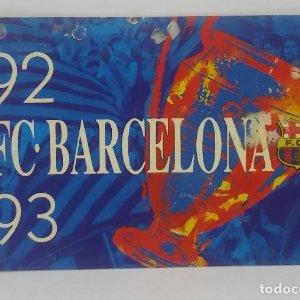 92/93 FC Barcelona. Abonament temporada Gold nord tercera graderia Futbol Club Barcelona 11x7cm