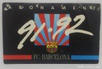 91/92 FC Barcelona. Abonament temporada Gold nord tercera graderia Futbol Club Barcelona