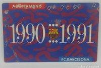 90/91 FC Barcelona. Abonament temporada Gold nord tercera graderia Futbol Club Barcelona