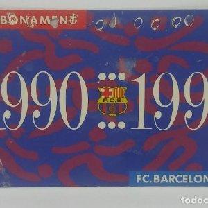 90/91 FC Barcelona. Abonament temporada Gold nord tercera graderia Futbol Club Barcelona 11x7cm