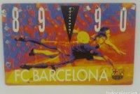 89/90 FC Barcelona. Abonament temporada Gold nord tercera graderia Futbol Club Barcelona