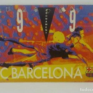 89/90 FC Barcelona. Abonament temporada Gold nord tercera graderia Futbol Club Barcelona 11x7cm