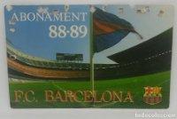 88/89 FC Barcelona. Abonament temporada Gold nord tercera graderia Futbol Club Barcelona