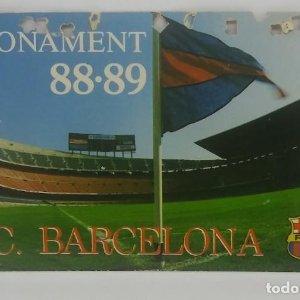 88/89 FC Barcelona. Abonament temporada Gold nord tercera graderia Futbol Club Barcelona 11x7cm