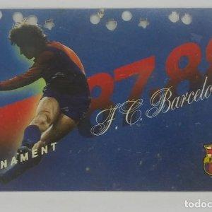 87/88 FC Barcelona. Abonament temporada Gold nord tercera graderia Futbol Club Barcelona 11x7cm