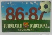 86/87 FC Barcelona. Abonament temporada Gold nord tercera graderia Futbol Club Barcelona