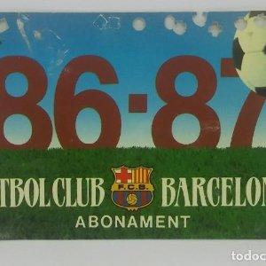 86/87 FC Barcelona. Abonament temporada Gold nord tercera graderia Futbol Club Barcelona 11x7cm