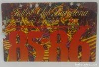 85/86 FC Barcelona. Abonament temporada Gold nord tercera graderia Futbol Club Barcelona