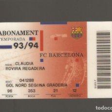 Coleccionismo deportivo: 1 CARNET DE SOCIO FCB BARCELONA . Lote 166094430