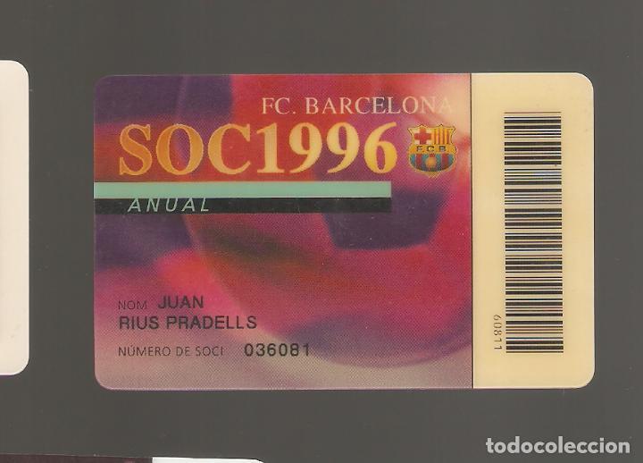1 CARNET DE SOCIO FCB BARCELONA (Coleccionismo Deportivo - Documentos de Deportes - Carnet de Socios)
