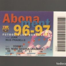 Coleccionismo deportivo: 1 CARNET DE SOCIO FCB BARCELONA . Lote 166095918