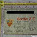 Coleccionismo deportivo: ABONO CARNET SOCIO SEVILLA FÚTBOL CLUB. TEMPORADA 1977 1978. Lote 167990556
