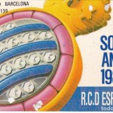 Coleccionismo deportivo: ABONO CARNET SOCI AÑO 1987 ESPAÑOL SOCIO SARRIA (ESPANYOL) . Lote 168919120