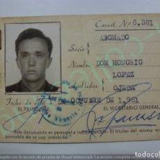 Coleccionismo deportivo: CARNET DE SOCIO. UNIÓN DEPORTIVA LAS PALMAS. AÑO 1961.. Lote 170916395