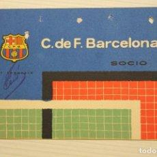 Coleccionismo deportivo: FUTBOL CLUB BARCELONA, CARNET SOCIO 1961. Lote 171666627
