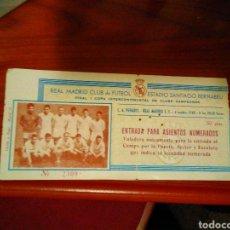 Coleccionismo deportivo: 1 FINAL DE LA COPA INTERCONTINENTAL DEL REAL MADRID 1960. Lote 172027698
