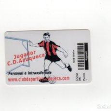 Coleccionismo deportivo: CARNET SOCIO FÚTBOL - C.D. AZUQUECA - ABONO SOCIO 827 - CON IMAGEN FUTBOLISTA KIKE UREÑA. Lote 172766813