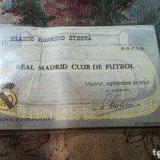 Coleccionismo deportivo: ANTIGUO CARNET DE 1963,DEL REAL MADRID. Lote 174067922