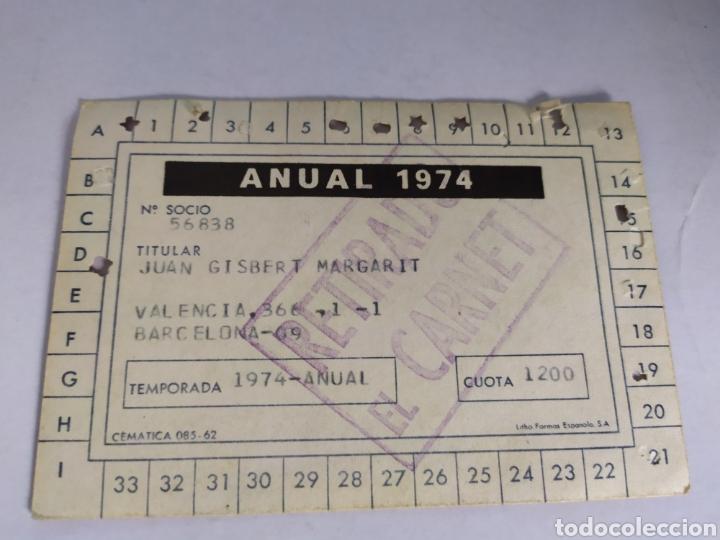 Coleccionismo deportivo: Barcelona abono anual temporada 1974 - Foto 2 - 175130440