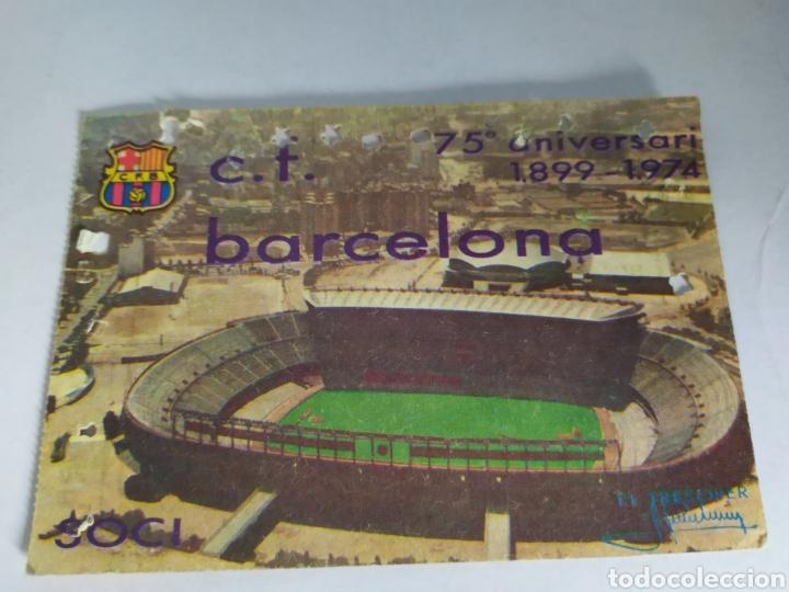 BARCELONA ABONO ANUAL TEMPORADA 1974 (Coleccionismo Deportivo - Documentos de Deportes - Carnet de Socios)