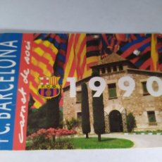 Coleccionismo deportivo: BARCELONA CARNET DE SOCIO ANUAL TEMPORADA 1990. Lote 175131014