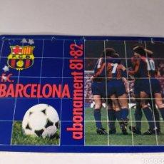 Coleccionismo deportivo: BARCELONA ABONO TEMPORADA 1981 1982. Lote 175131123